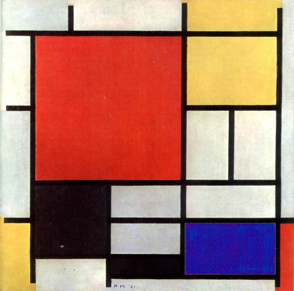 Painting by Piet Mondriaan